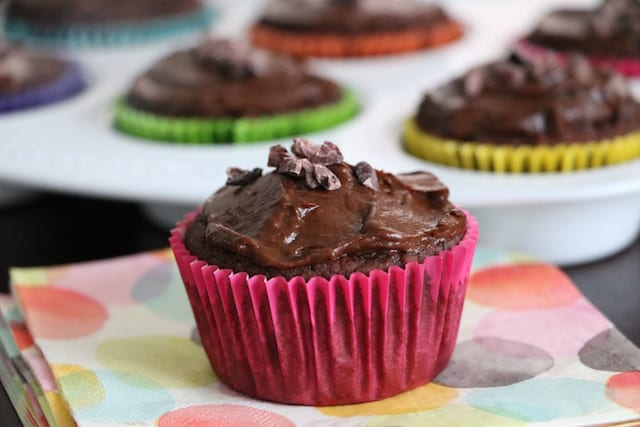 Chocolate Brownie Cupcakes with Chocolate Avocado Frosting [click image for recipe]