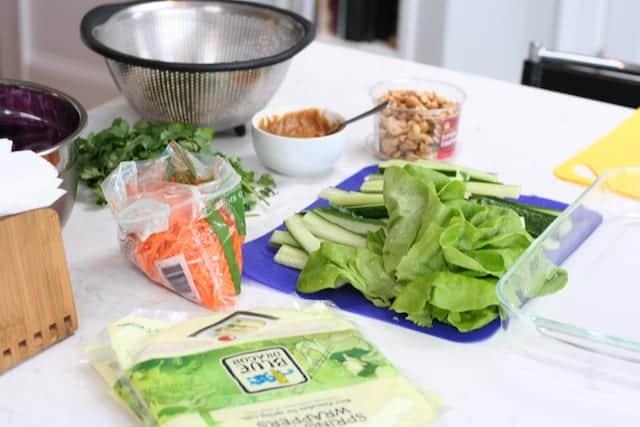 Thai Rolls Ingredients
