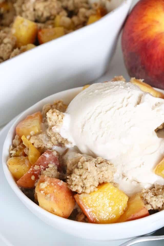 Easy Vegan and Gluten-Free Peach Crisp