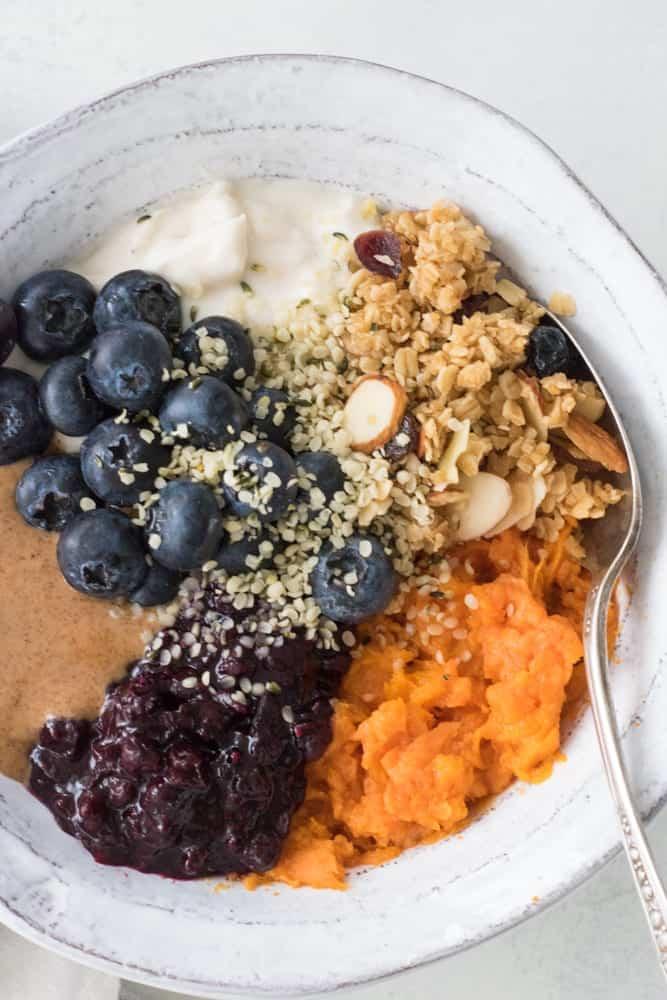 Easy Vegan Sweet Potato Breakfast Bowls Eating By Elaine