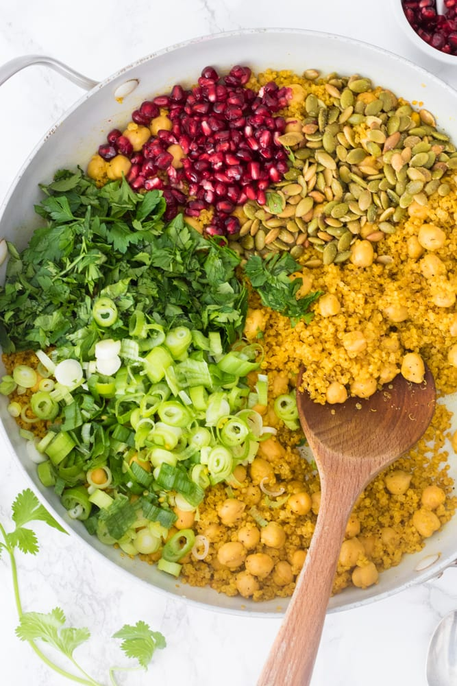 ingredients for the quinoa before being cooked