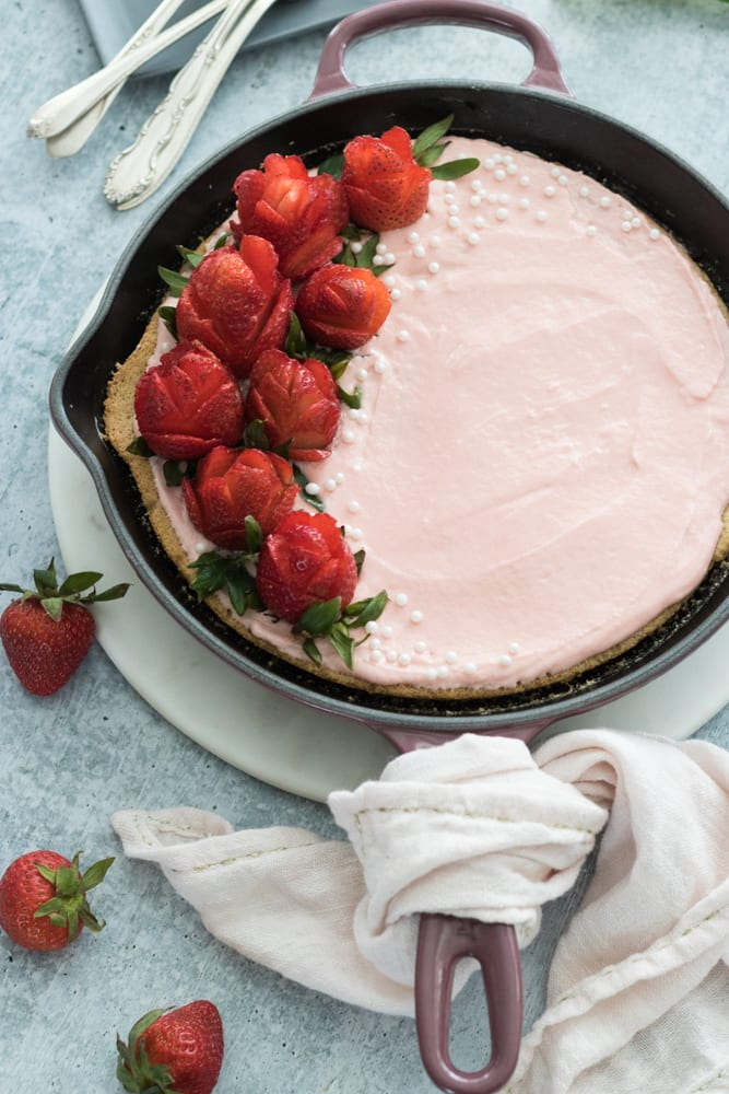Strawberry Vanilla Vegan Cake