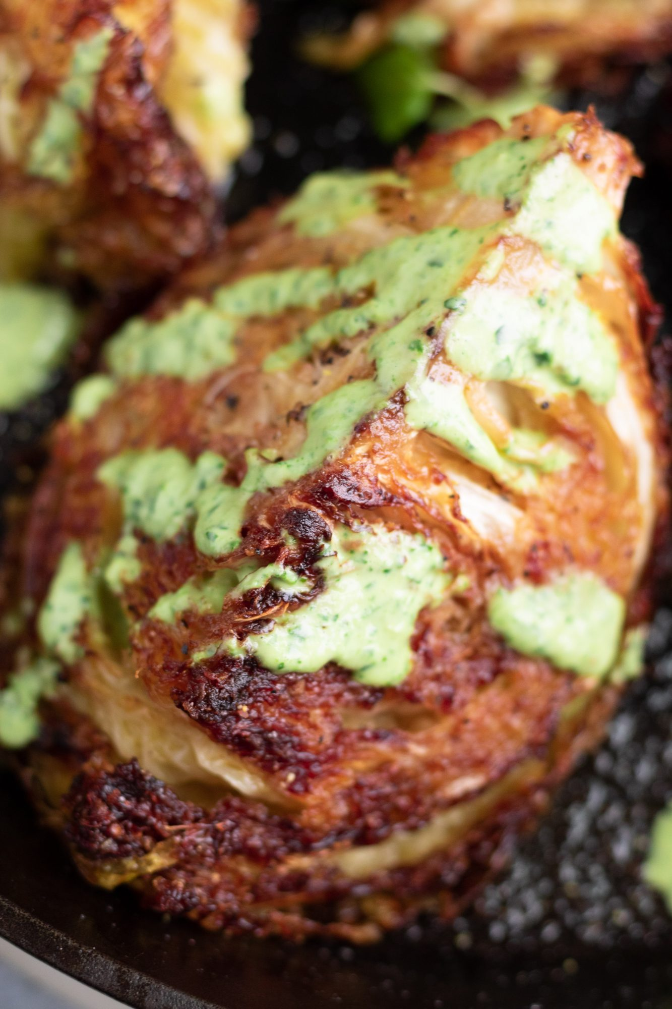 Crispy Roasted Green Cabbage