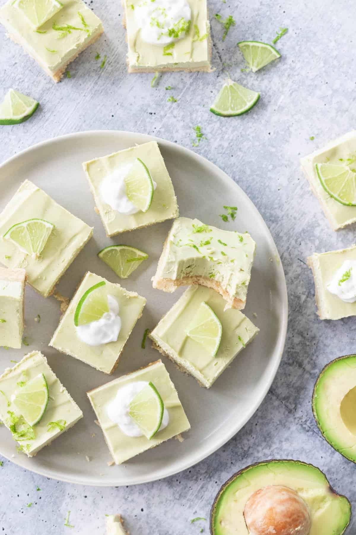 Avocado Key Lime Pie Bars