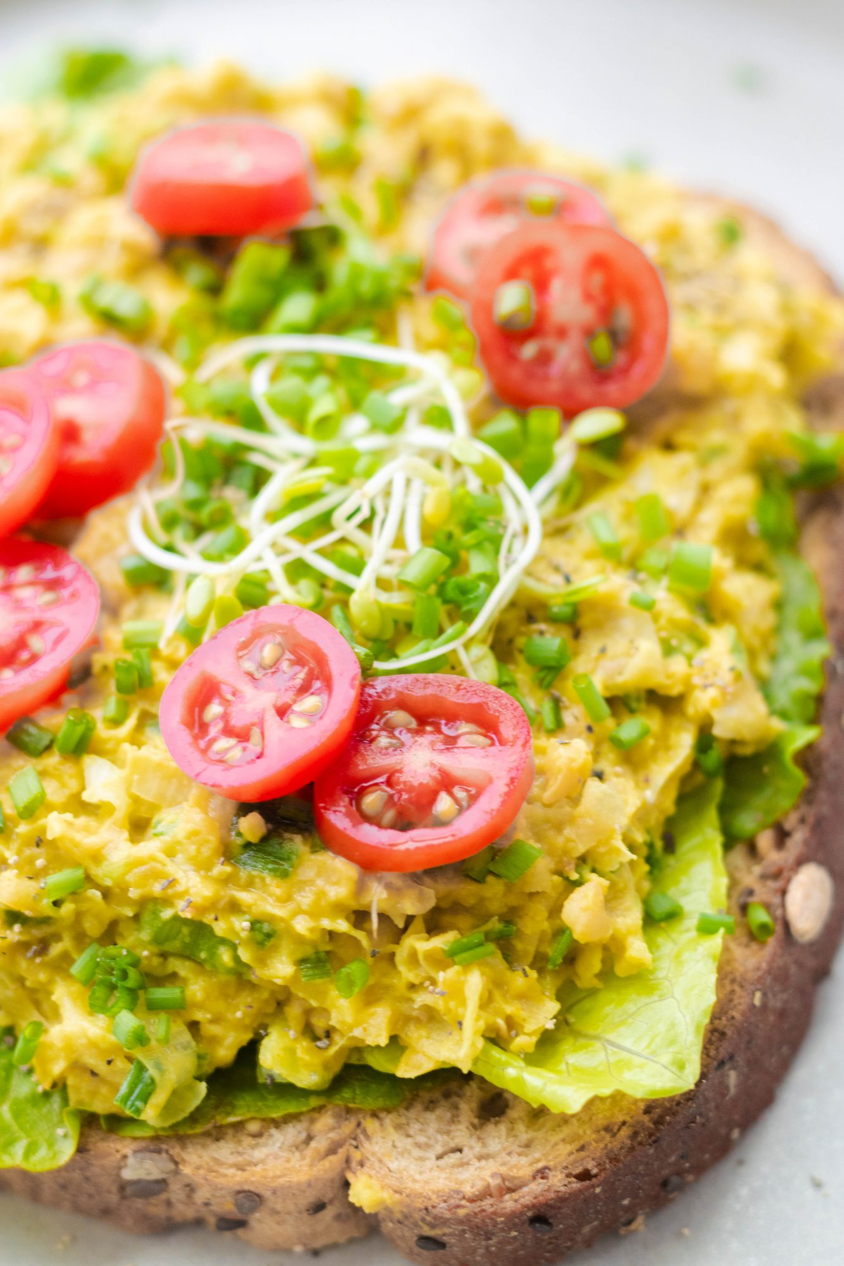"Easy Vegan ""Egg"" Salad"