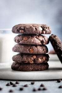 Fudgy Double Chocolate Chip Cookie