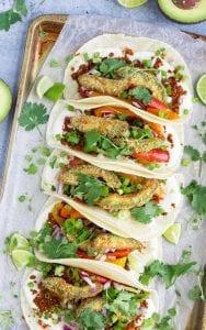 The Best Crispy Air Fryer Avocado Tacos