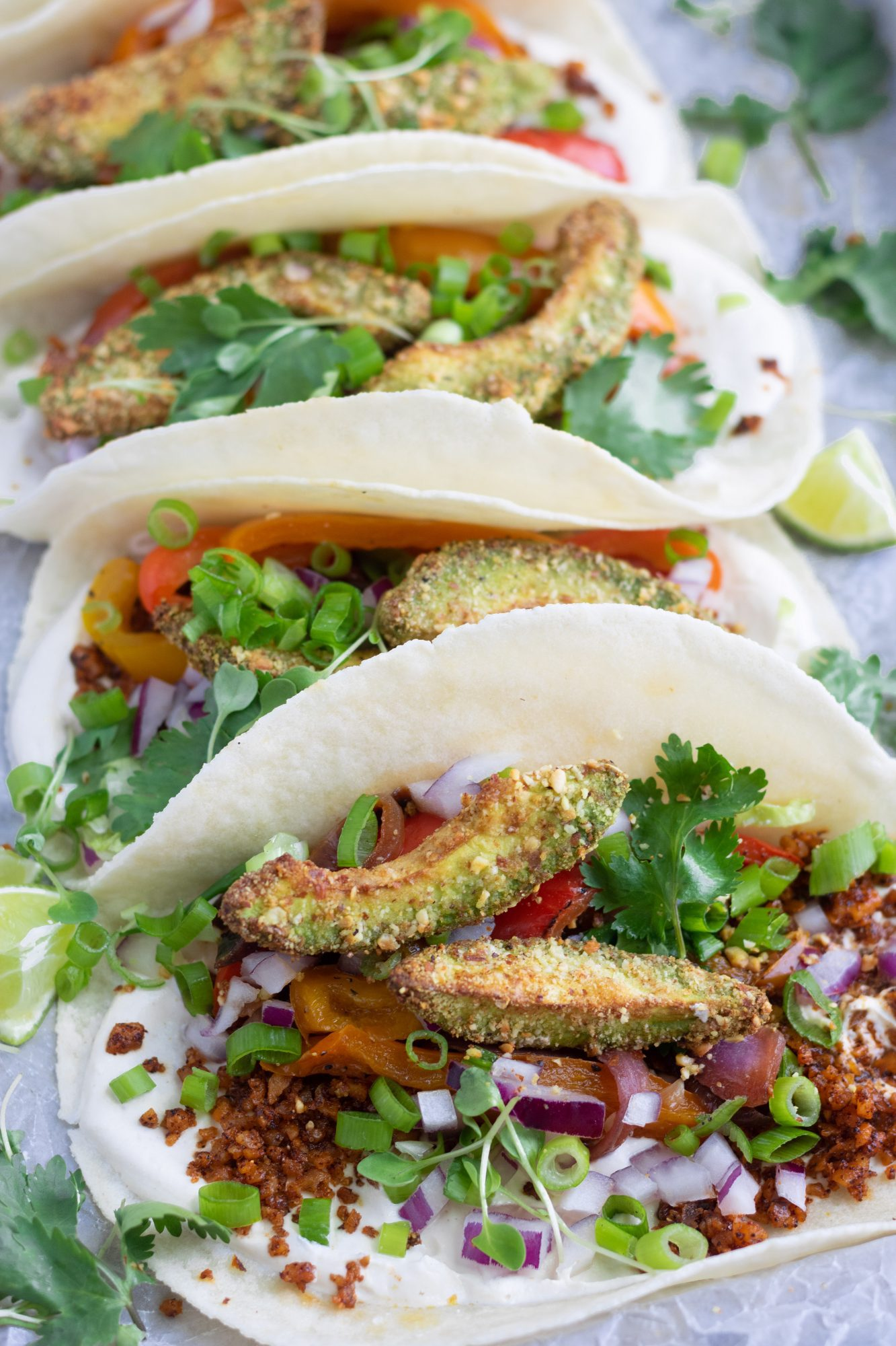 Paleo Vegan Crispy Air Fryer Avocado Tacos