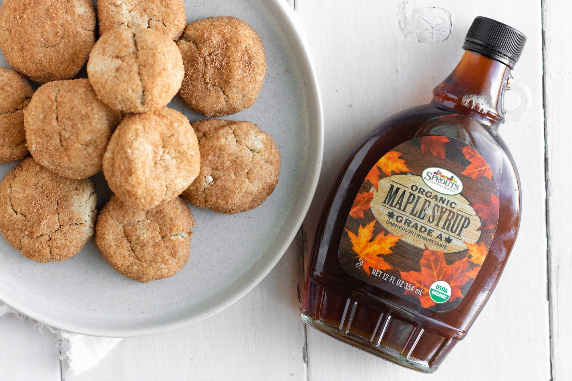 Snickerdoodles with Maple Syrup from Sprouts