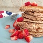 Baked Berry Pancakes (gluten-free + vegan + oil-free)