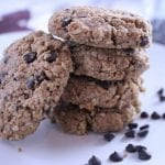 Moist & Chewy Oatmeal Almond Butter Cookies (vegan + gluten free)