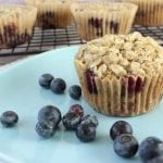 Blueberry Muffins with Oat Crumb Topping (vegan + gluten-free)