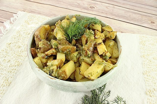 Garlic-Dill Shallot Potatoes 2