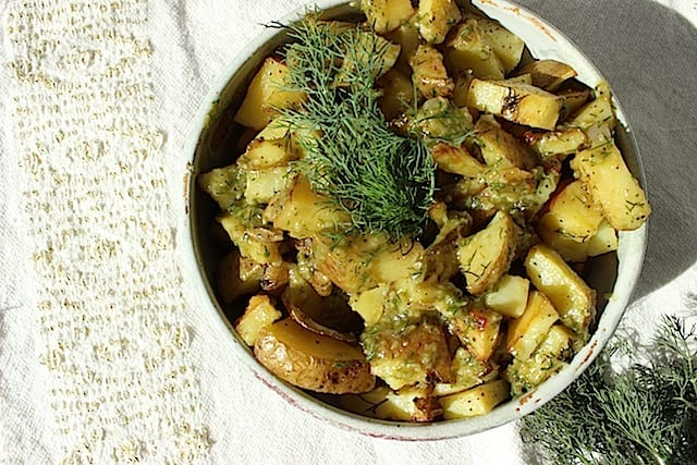 Garlic-Dill Shallot Potatoes
