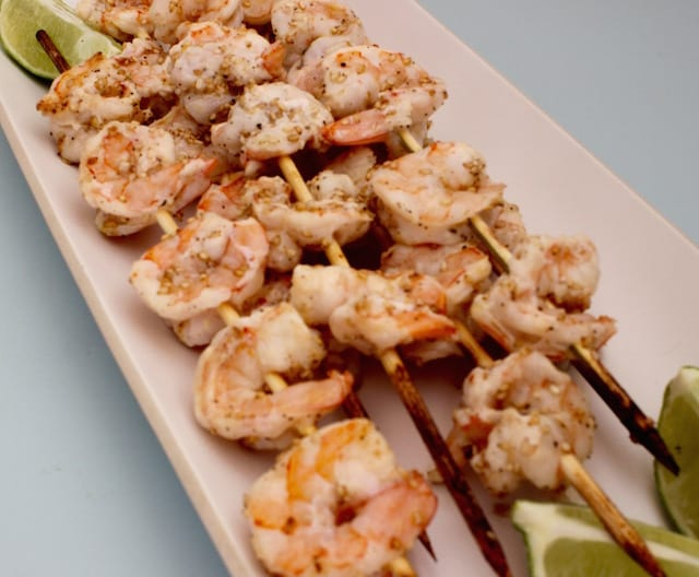 Lime-Agave Shrimp Skewers