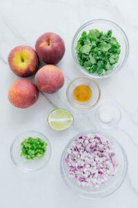 Peach Salsa Ingredients