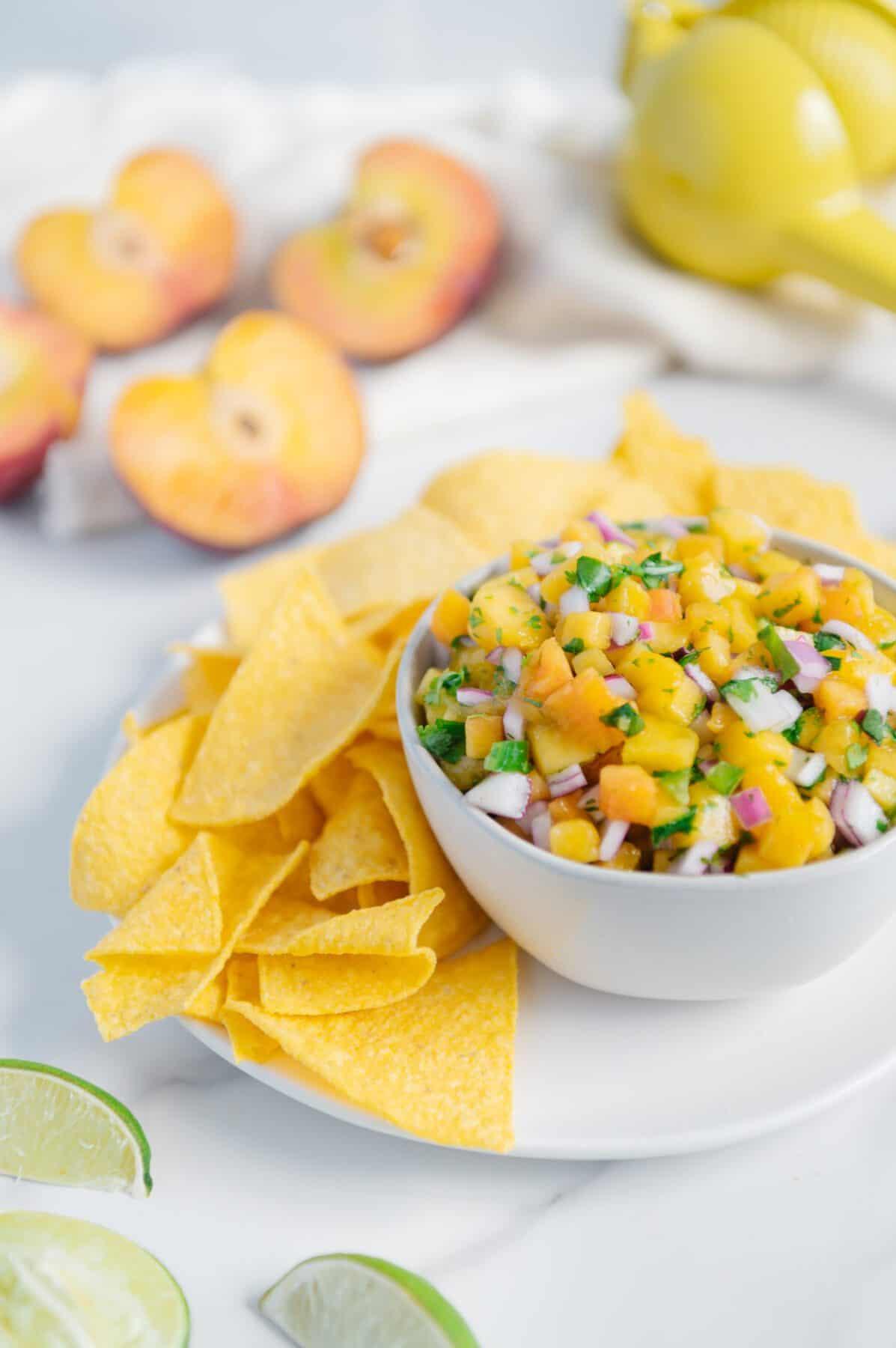 Vegan Peach Salsa