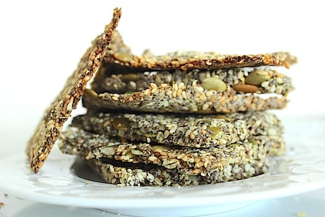 Superfood Crackers Stacked