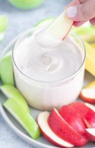 vegan creamy fruit dip