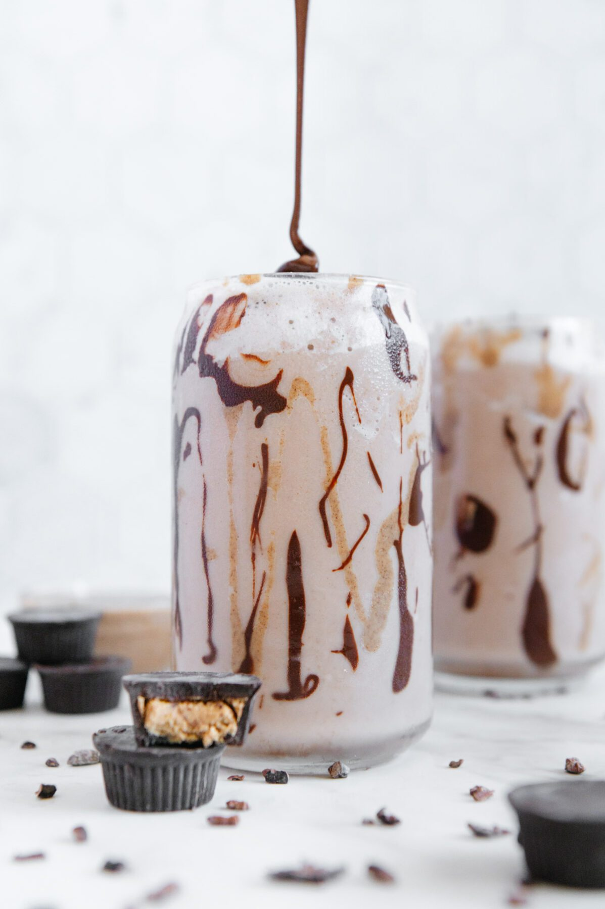 Chocolate and Almond Butter Vegan Smoothie