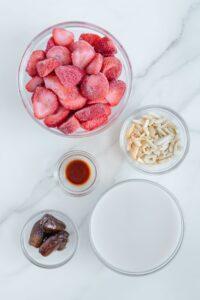 Vegan Strawberry Milkshake Ingredients