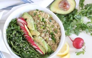 Spring Quinoa Arugula Salad Bowl 3