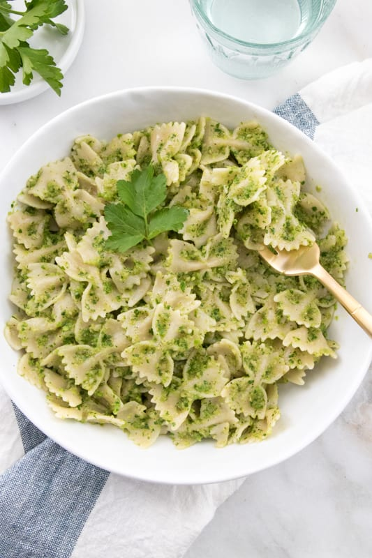 Parsley-Pea Pesto Pasta | Eating by Elaine