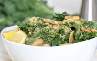 Vegan Kale Caesar Salad Nutfree