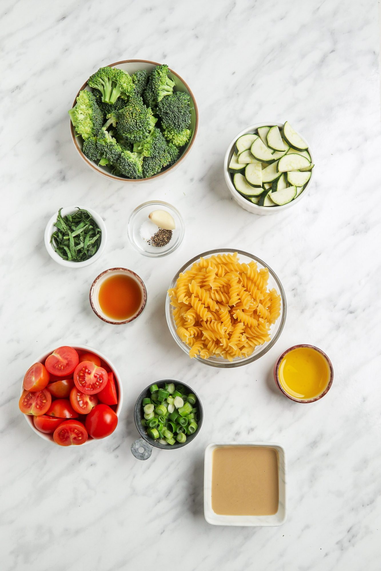 Broccoli Pasta Salad Ingredients