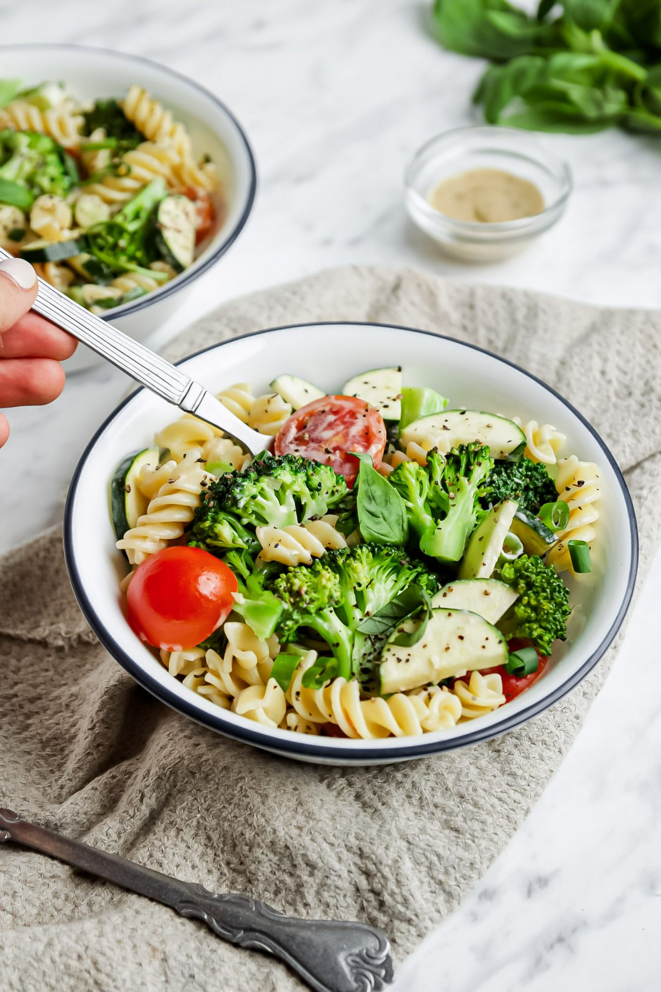Creamy Vegan Broccoli Pasta Salad