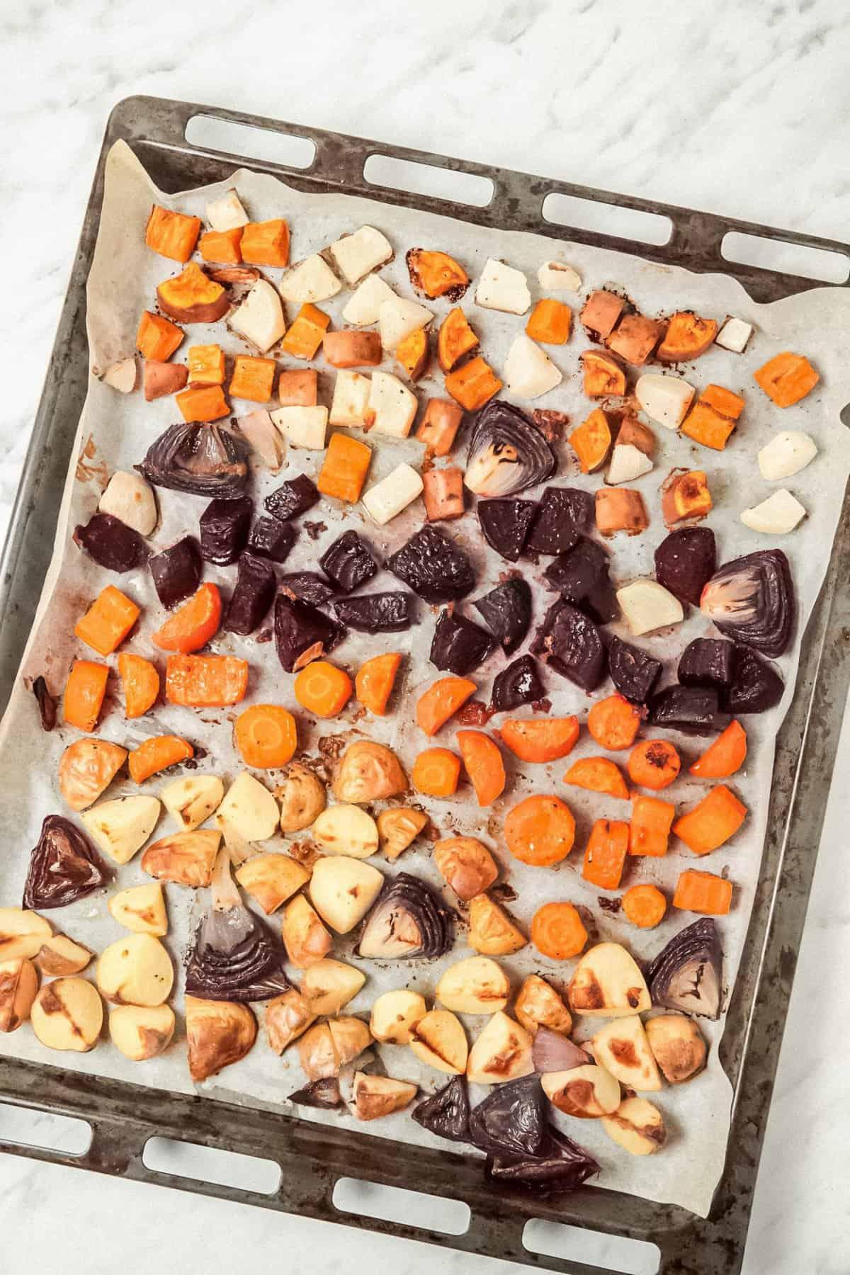 Roasted Root Vegetables on Sheet Pan