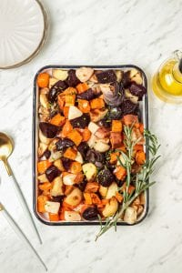 Herb Roasted Root Vegetable Side Dish