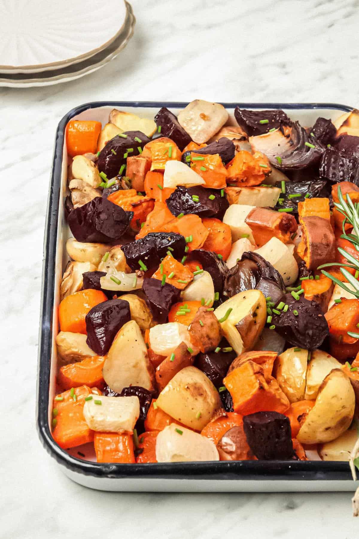 Herb Garlic Roasted Root Vegetable Recipe