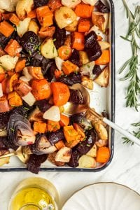 Herb Garlic Roasted Root Vegetables