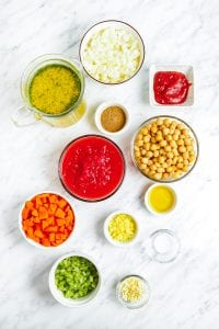 Vegan Moroccan Soup Ingredients