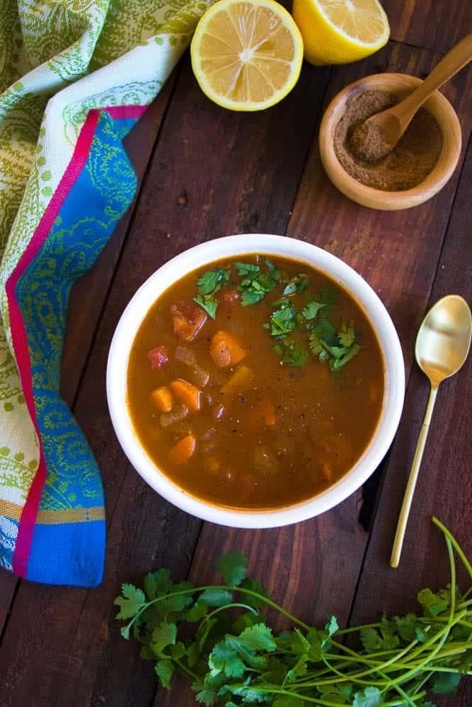 Moroccan Tomato & Chickpea Soup