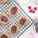 Gluten-Free and Vegan Raspberry Thumbprint Cookies