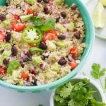 Mexican Quinoa Salad with Black Beans and Avocado