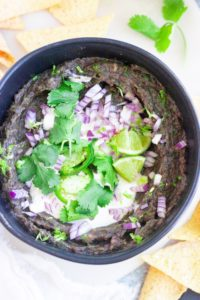 Spicy Creamy Vegan Black Bean Dip