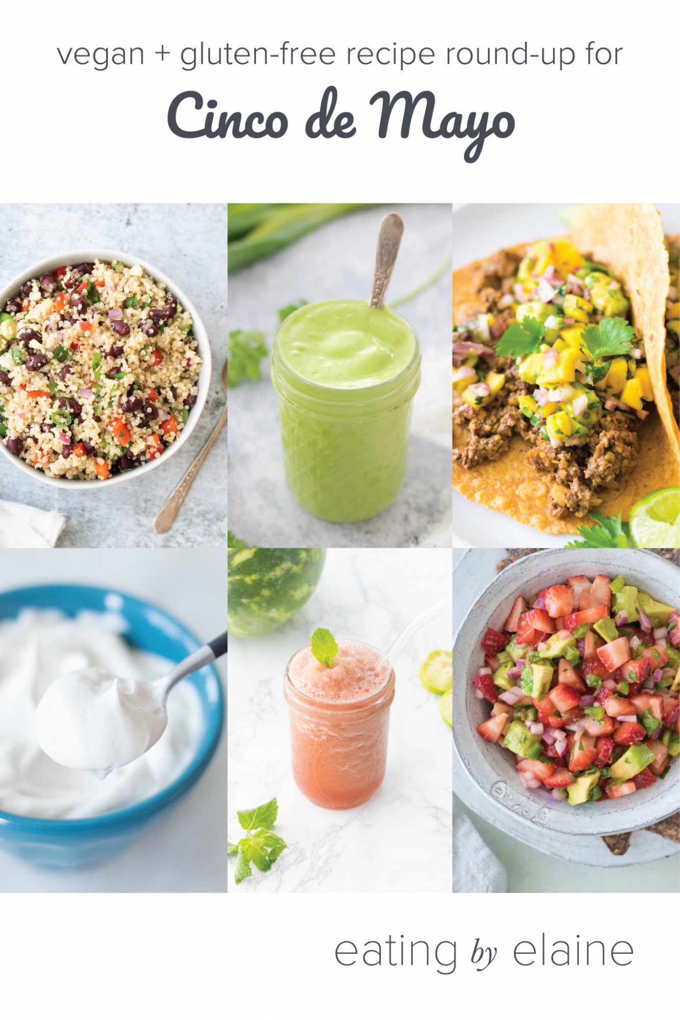 Vegan and Gluten-free Cinco de Mayo Recipe Round-Up