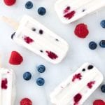 Red, White and Blueberry Popsicles