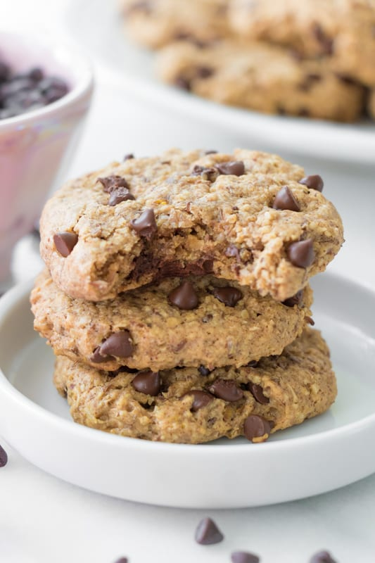 Vegan and Gluten-Free Healthy Chocolate Chip Cookies | Eating by ...