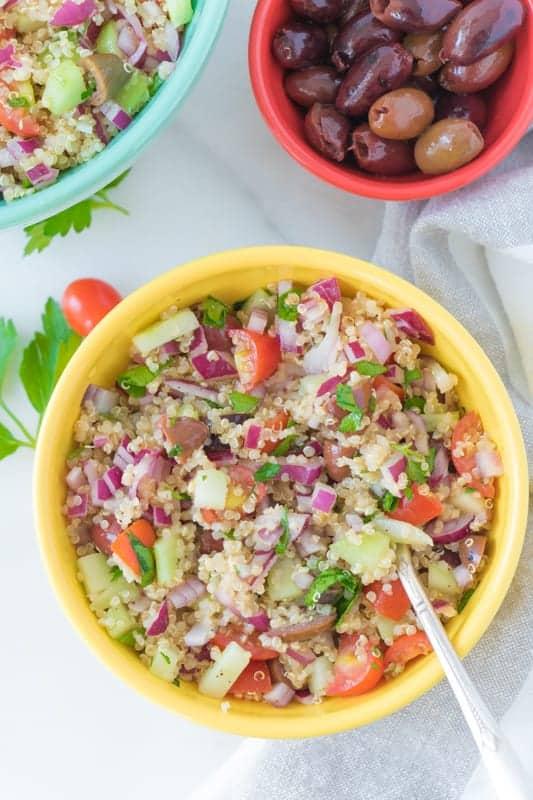 Vegan Mediterranean Quinoa Salad Eating By Elaine