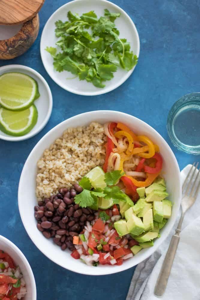 Mexican Veggie Burrito Bowls