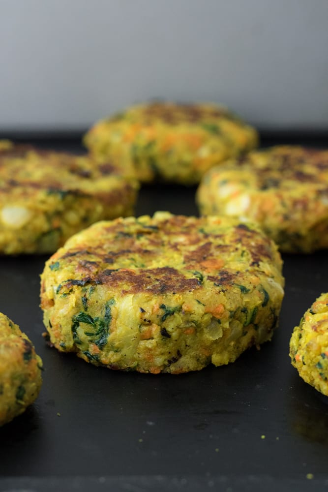 Turmeric Spiced Millet Veggie Burgers