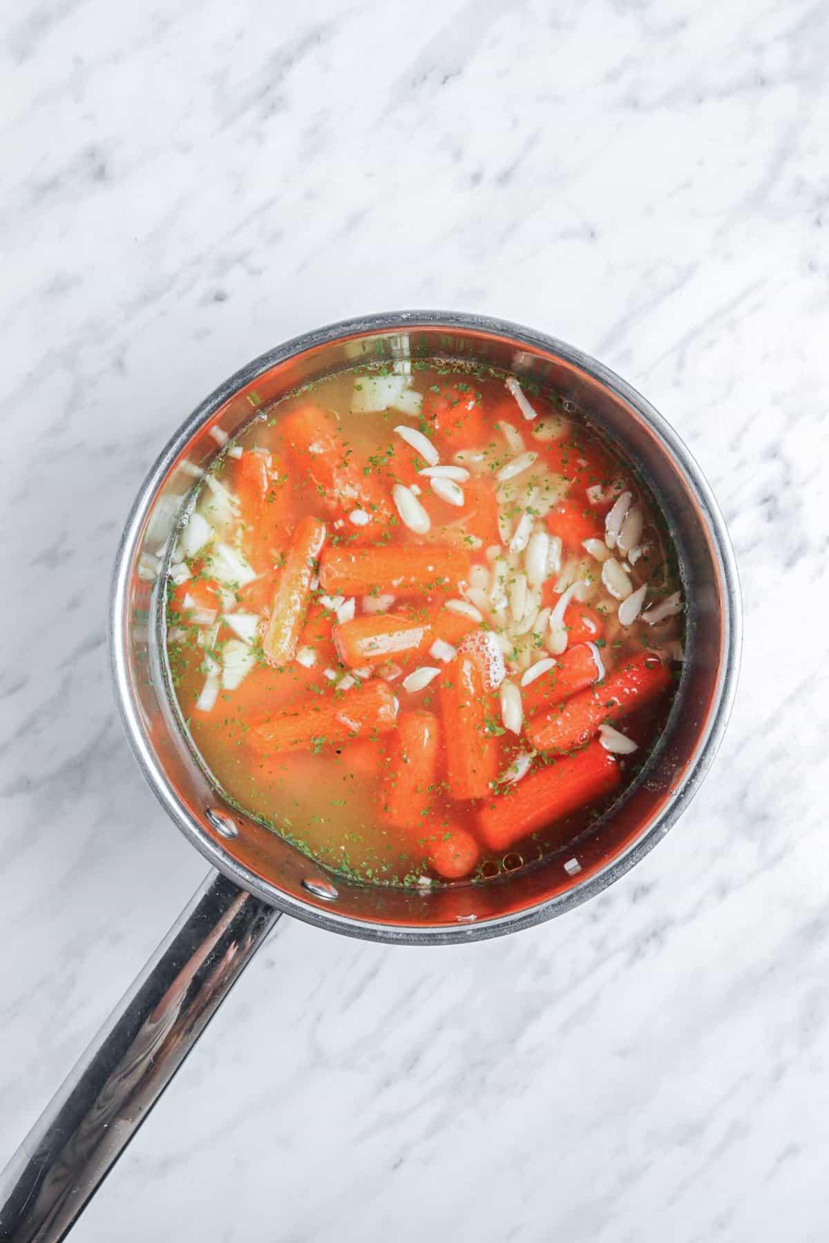 Making Vegan Carrot Ginger Soup