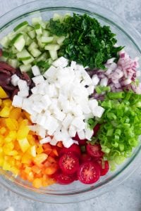 Mediterranean Quinoa Salad Ingredients