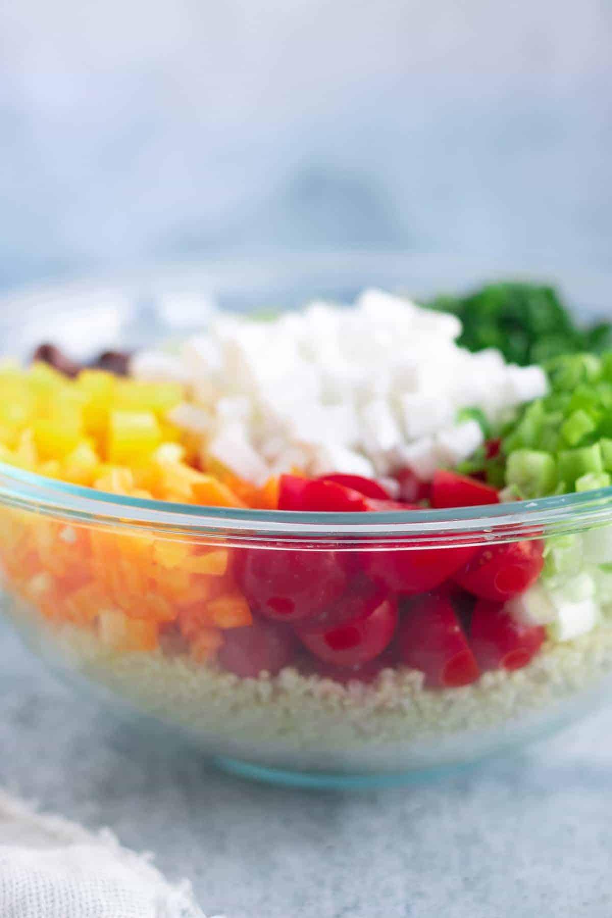Vegan Mediterranean Salad Ingredients