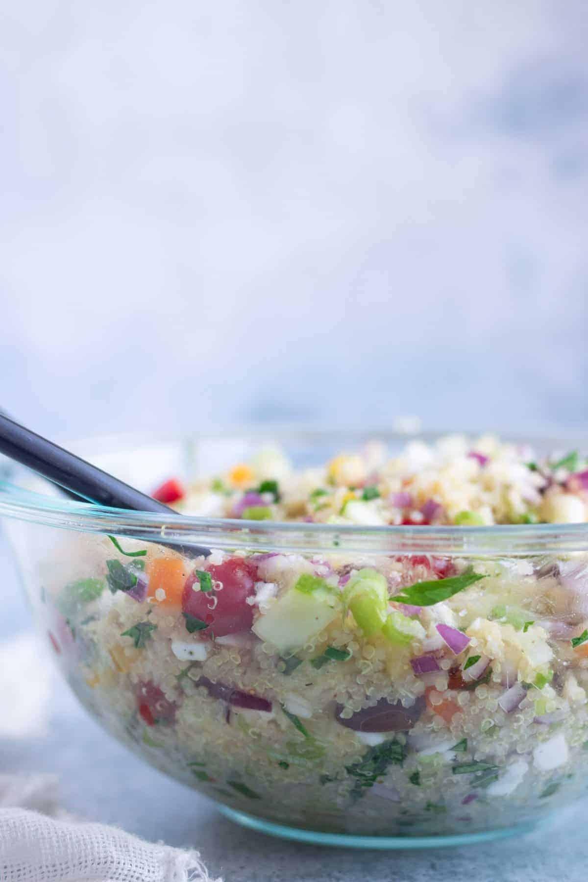Homemade Mediterranean Quinoa Salad Recipe