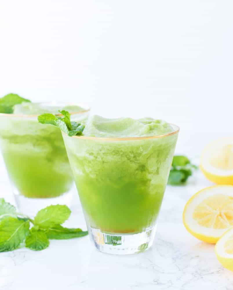 Refined Sugar-Free Frozen Mint Lemonades